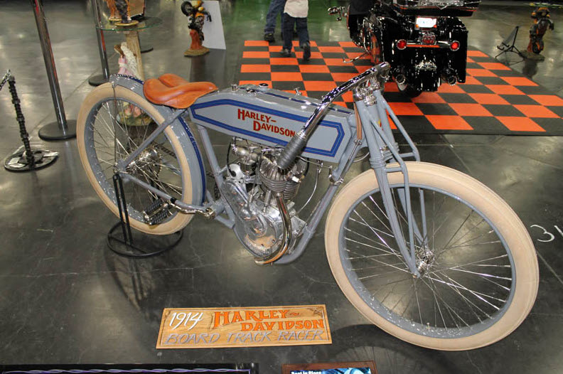 1914 Harley Davidson board tracking