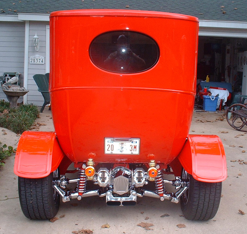 1915 Ford Center Door, Only 54 Made in 1915, First Closed Car Henry Ford made Very Rare Car Built and owned by Wabbit's Dashes in Cleveland, Texas Chrome by Speed & Sport Chrome Plating