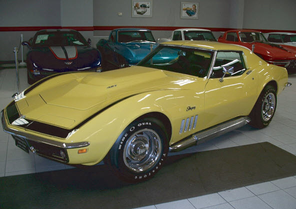 1969 ZL1 Corvette. The only documented ZL1 1969 Corvette with an all aluminum 427 engine. There were only 2 of them built in 1969. Restored by Naber's Motors Who use exclusively Speed & Sport Chrome Plating.