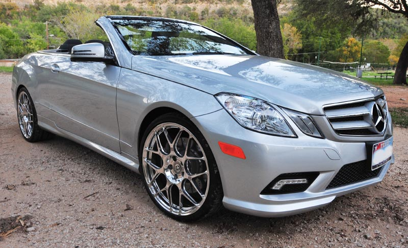 Steve Hogan Houston, Texas 2011 Mercedes E550 with HRE 740 Monoblock Wheels, polished by Speed & Sport Chrome Plating