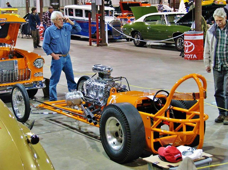 Frank Morawski, Baltimore MD , Dragmaster Chassis, Front Motor Dragster Built in 1961, Chrome by Speed and Sport Chrome Plating