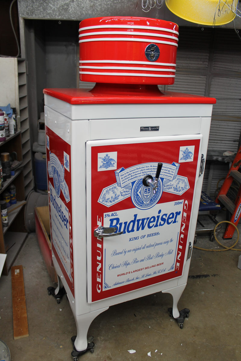 Budweiser refrigerator chrome job