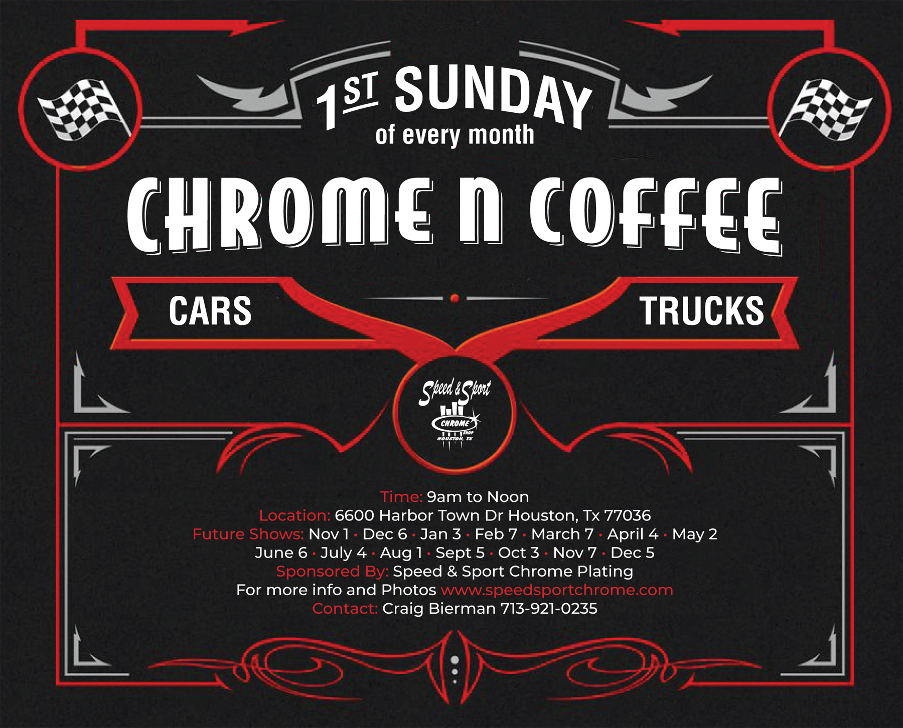 Chrome n Coffee Every 1st Sunday in Houston TX